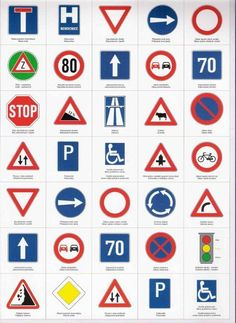 … Traffic Signs And Symbols, All Traffic Signs, Road Sign Meanings, Transport Topics, Driving Theory, Road Texture, Preschool Calendar, Drivers Ed, Easter Coloring Pages