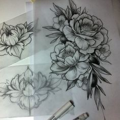 This would look good as a hip tattoo Dream Tattoos, Future Tattoos, Body Art Tattoos, New Tattoos, Sleeve Tattoos, Tatoos, Skull Tattoos, Tatoo Flowers, Peonies Tattoo