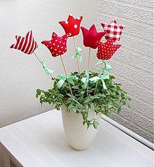 Dekorácie - Jarné tulipány-červené - 1263124