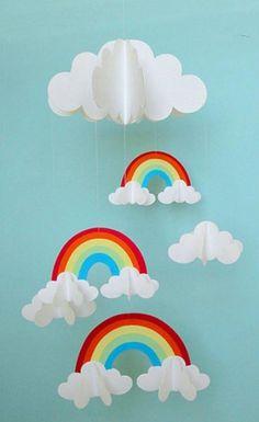 Móvil de arcoiris