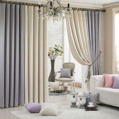 двухцветные шторы в интерьере
