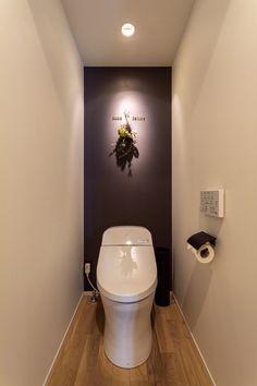 モノトーンスタイルの都市型マンションリノベーション【リノベ】 ゼストの写真集 倉敷市 注文住宅 工務店 Small Toilet Room, Toilet Design, Under Stairs, Powder Room, Diy And Crafts, Modern Design, Bathroom, Farrow Ball, Home Decor