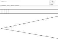 Après avoir repassé les pointillés je dessine à main levée des lignes verticales dans un espace bien délimité