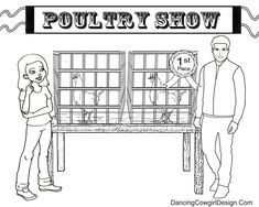 4-H or FFA ouultry show coloring pages