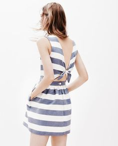 Maison Kitsuné stripe bali dress