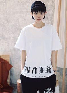 NOIRロゴ入りTシャツ SFSELFAA0015564