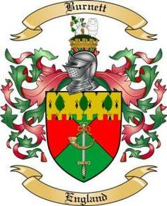burnett coat of arms | We do have the Burnett coat of arms / family crest from England, along ...