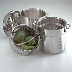 Stainless Steel 12 Quart Pasta Pot - All Clad
