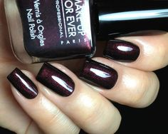 Fashion Polish: Make Up For Ever Fall 2012 Black Tango Collection!~~  Black Red~  wine red shimmer in a black base