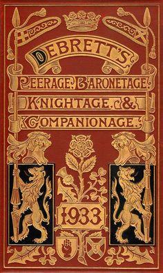 Debrett's book of British Peerage, Baronetage, Knightage & Companionage