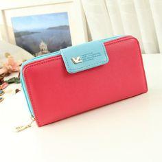 Fashion Women Wallet Luxury Female Carteira Feminina Long Ladies Leather Wallets Zip Purse PU Card Holders Clutch Money Bag