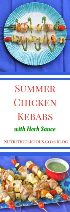 Fresh cilantro and mint come together in a cool yogurt-based sauce perfect for hot-off-the-grill chicken kebabs. @jlevinsonrd