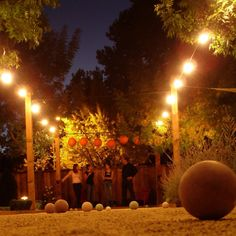 Bocce ball court lighting