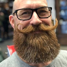 Fantastic moustache that looks even better with the nicely trimmed beard.