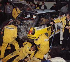 ra Asistencia en el 26º Tour de Corse - Rallye de Francia 1982 del Equipo Renault Elf-En el Renault 5 Turbo de Jean Ragnotti - Jean-Marc Andrié, clasificado 1º.
