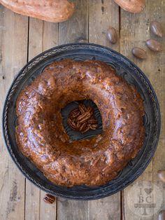 Bundt Cake de boniato, miel y whisky