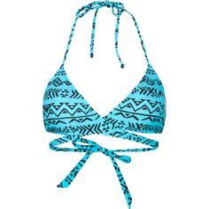 ROXY Abstract Womens Swimsuit Top ($42) ❤ liked on Polyvore featuring swimwear, bikinis, bikini tops, swimsuits, bathing suits, swim, women, string bikini tops, tankini swimsuit tops and swim tops