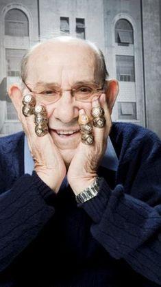 Yogi Berra with WS rings New York Yankees Stadium, Damn Yankees, New York Yankees Baseball, Yankees Fan, Negro League Baseball, Baseball Players, Baseball Scores, Baseball Uniforms, Baseball Training