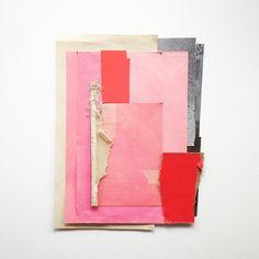 new work on my website 26x34cm . . #sophieklerk #forsale #collage #mixedmedia #red #pink #grey #black #abstractart #contemporaryart #art #artist #instaart #instaartist #instagood