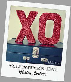 Glitter Letter Tute