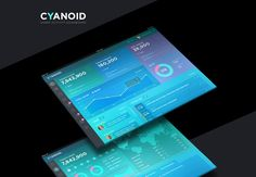 https://www.behance.net/gallery/26124623/CYANOID-Dashboard-UI-Design