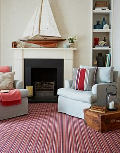 Super stripes in the New Worlds collection by Kersaint Cobb. For other colour combinations visit our website www.kersaintcobb.co.uk Striped Carpets, Wool Carpet, Colour Combinations, Cosy, Stripes, Warm, Website, Collection, Home Decor