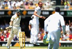 Ashes 2013: Stuart Broad Silences Boo-Boys With Five Wickets - Stuart Broad of England celebrates after taking the wicket of Chris Rogers of Australia during day one of the First Ashes Test match between Australia and England at The Gabba on November 21, 2013 in Brisbane, Australia. (Photo by Ryan Pierse/Getty Images)