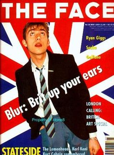 damon (blur) on the face cover, may 1994
