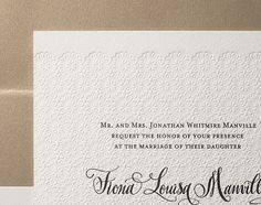 """Gournay"" wedding invitation for Bella Figura by designsgirl"