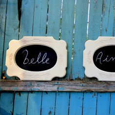 Vintage framed chalkboard up cycled frame by FrenchCountryLove, $60.00