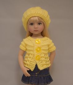 """1. Sweaters & Hat - PDF Knitting Pattern for Dianna Effner 13"""" Little Darling Dolls by TinyTinyHeart on Etsy https://www.etsy.com/listing/262635091/1-sweaters-hat-pdf-knitting-pattern-for"""