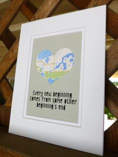 Personalized Map & Quote Going Away Gift by HandmadeHQ on Etsy