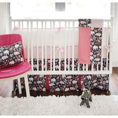 $456.00  I LOVE this print!!  Zoey Baby Bedding in Pink  #PoshTotsNursery  room  2