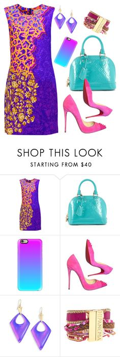 """""""Printed Dress💞"""" by dogzprinted ❤ liked on Polyvore featuring Peter Pilotto, Louis Vuitton, Casetify, Christian Louboutin, Alexis Bittar, Hipanema, dress and printeddress"""