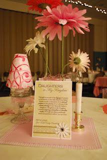 decor for cultural hall/relief society birthday dinner