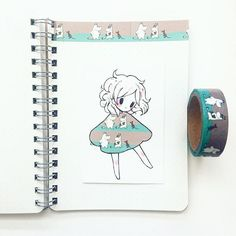 fashion 16 moomin tape from Blippo Kawaii Shop ^u^. Beautiful Drawings, Cute Drawings, Chibi, Tape Art, Dibujos Cute, Kawaii Shop, Pretty Art, Manga Drawing, Copics