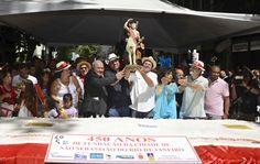 Dom Orani Tempesta participou do corte do bolo do aniversário do Rio