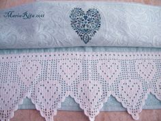 filet crochet and cross stitch