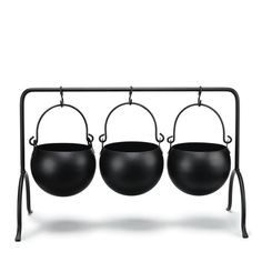 """Avon Living Set of 3 Mini Cauldron Snack Holders 