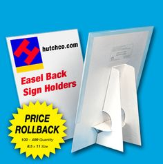 Cardboard Tabletop Frame Stand | ... Card Display 8.5 X 11 Cardboard Easel  Tabletop