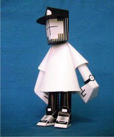 Le designer mexicain Andrés Figueroa a voulu s'essayer à la conception de papertoy. Et il a sacrément bien réussi. Son idée était de créer un personnage dont on pouvait facilement personnaliser le top, le chapeau et les accessoires. Il lui… 3d Paper Crafts, Paper Toys, Diy Paper, Art Jouet, Origami, Vinyl Toys, Wood Canvas, Designer Toys, Paper Models