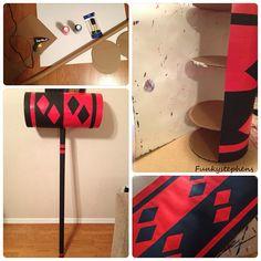 My DIY Harley Quinn mallet