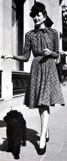 Vintage-Retro — Dress by Jacques Fath, 1942