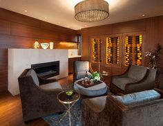Boulder Contemporary - midcentury - family room - denver - 186 Lighting Design Group - Gregg Mackell