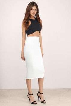Grace High Waisted Midi Skirt