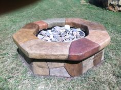 fire pit, that was refurbished to be a one of a kind