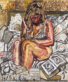 View Jean sitting in bed by John Bratby on artnet. Browse upcoming and past auction lots by John Bratby. John Bratby, Art Station, Global Art, Art Market, Figure Painting, Traditional Art, Art Inspo, Habitats, Artist