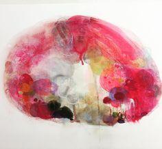 #北参道オルタナティブ  より #竹中美幸 さんの作品画像では伝わりにくいですがペイント作品なのにすごく奥行きがあるように見えて面白かったです絵の具の層が立体的に広がるような感じ特殊な絵の具らしい #1日1アート #art #everydayart #MiyukiTakenaka