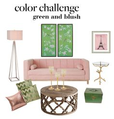 """My Color Challenge"" by luxebeautygirl ❤ liked on Polyvore featuring interior, interiors, interior design, home, home decor, interior decorating, Bernhardt, JAlexander, Vintage Print Gallery and Lee Jofa"