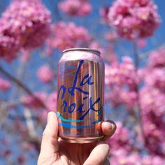 Monday essentials include Spring blooms & #LaCroix Cran-Rasberry (Photo: @traveling_newlyweds)